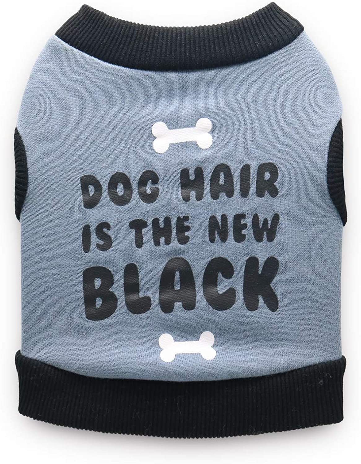 DroolingDog Dog Shirt Fleece Dog Hair is The New Black Vest Puppy Tshirts for Small Dogs, Small