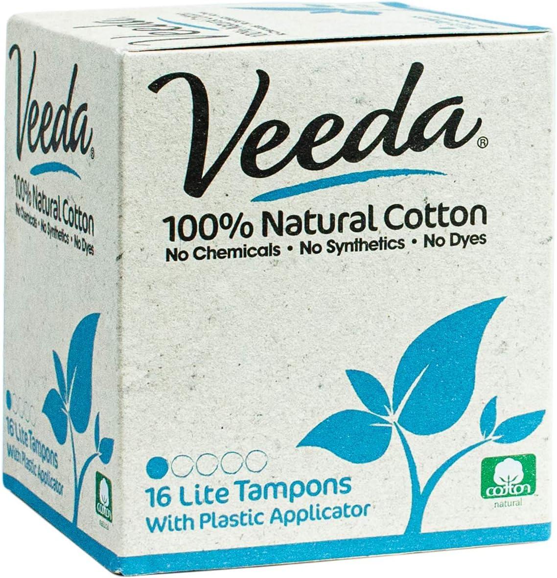 Seasonal discount Wrap Introduction Veeda 100% Natural Cotton Compact Applicator BPA-Free Ch Tampons
