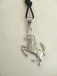 Cavallino Rampante - Ciondolo in Argento 925 - stemma - simbolo - logo - pendente -