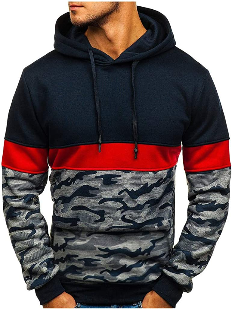 Mens Hoodies Button Collar Lightweight Slim Casual Long Sleeve Solid Hooded Pullover Sweatshirts Outwear Jacket Coats