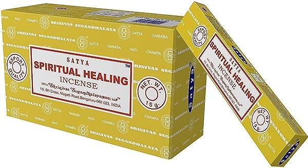 Satya Nag Champa Spiritual Healing Incense Sticks 12 Count