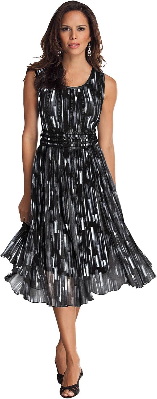 Roamans Women's Plus Size Mesh Dress Formal Evening