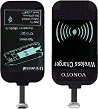 VONOTO Universal Qi Wireless Charger Charging Receiver Film Patch Module with Micro USB - Wireless Charger Charging Receiver Card for Micro-USB of All Android Mobile Phones (Micro USB R)
