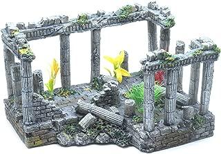 Sscon Aquarium Fish Tank Decoration Simulation Resin Roman Column Rock Ruins Plants Aquarium Decor Ornaments