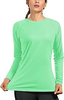Women's UPF50+ Long Sleeve UV Sun Protection Shirts Quick Dry Rash Guard Swim Outdoor T-Shirt for Fishing Running Workout
