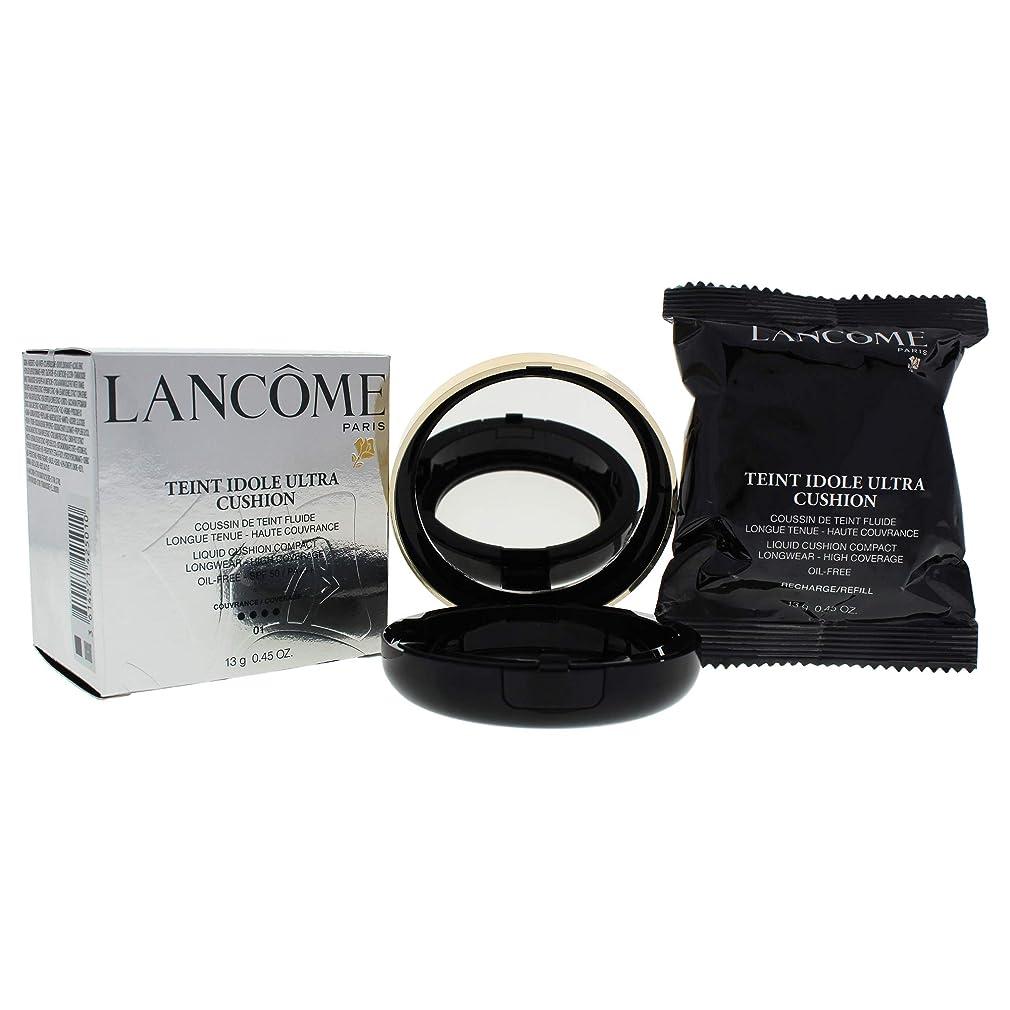 透過性ブレンド信頼できるランコム タン イドル ウルトラクッションリキッドクッションコンパクト SPF 50# 01 Pure Porcelaine