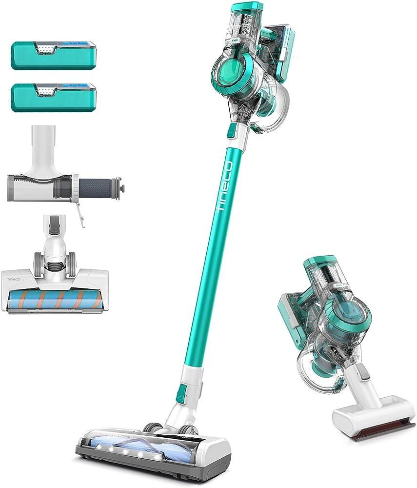 Tineco aspirapolvere senza fili, scopa elettrica potente 2 spazzole, per pavimenti, tappeti
