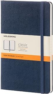 モレスキン ノート クラシック ノートブック ハードカバー 横罫 ラージサイズ サファイアブルー QP060B20