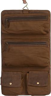 KOMALC Genuine Buffalo Leather Hanging Toiletry Bag Travel Dopp Kit …