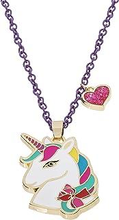 "Jojo Siwa Unicorn with Heart Charm Pendant Necklace, 16""+3"", Multi, Medium (NH00674YL-16)"