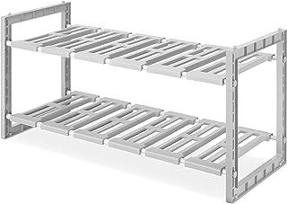 Whitmor 2-Tier Under Sink Shelves, Gray