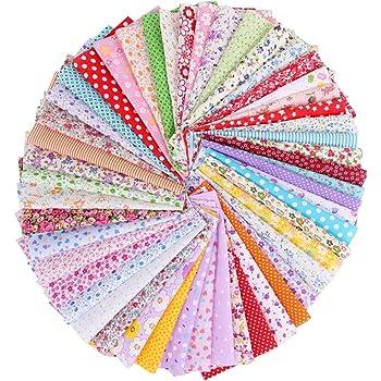 Gaocunh Tela Acolchada, Tela Artesanal de algodón, para Patchwork, Coser Tejido a Patchwork, Adecuado para manteles, pañuelos, Ropa, Bricolaje Hecho a Mano: Amazon.es: Hogar