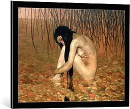 kunst für alle Framed Art Print: Felix Edouard Vallotton Woman Bathing - Decorative Fine Art Poster, Picture with Frame, 29.5x21.7 inch / 75x55 cm, Black/Edge Grey
