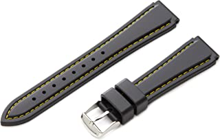 Hadley-Roma Men's MS3445RV 180 18-mm Genuine Rubber Diver Sport Watch Strap