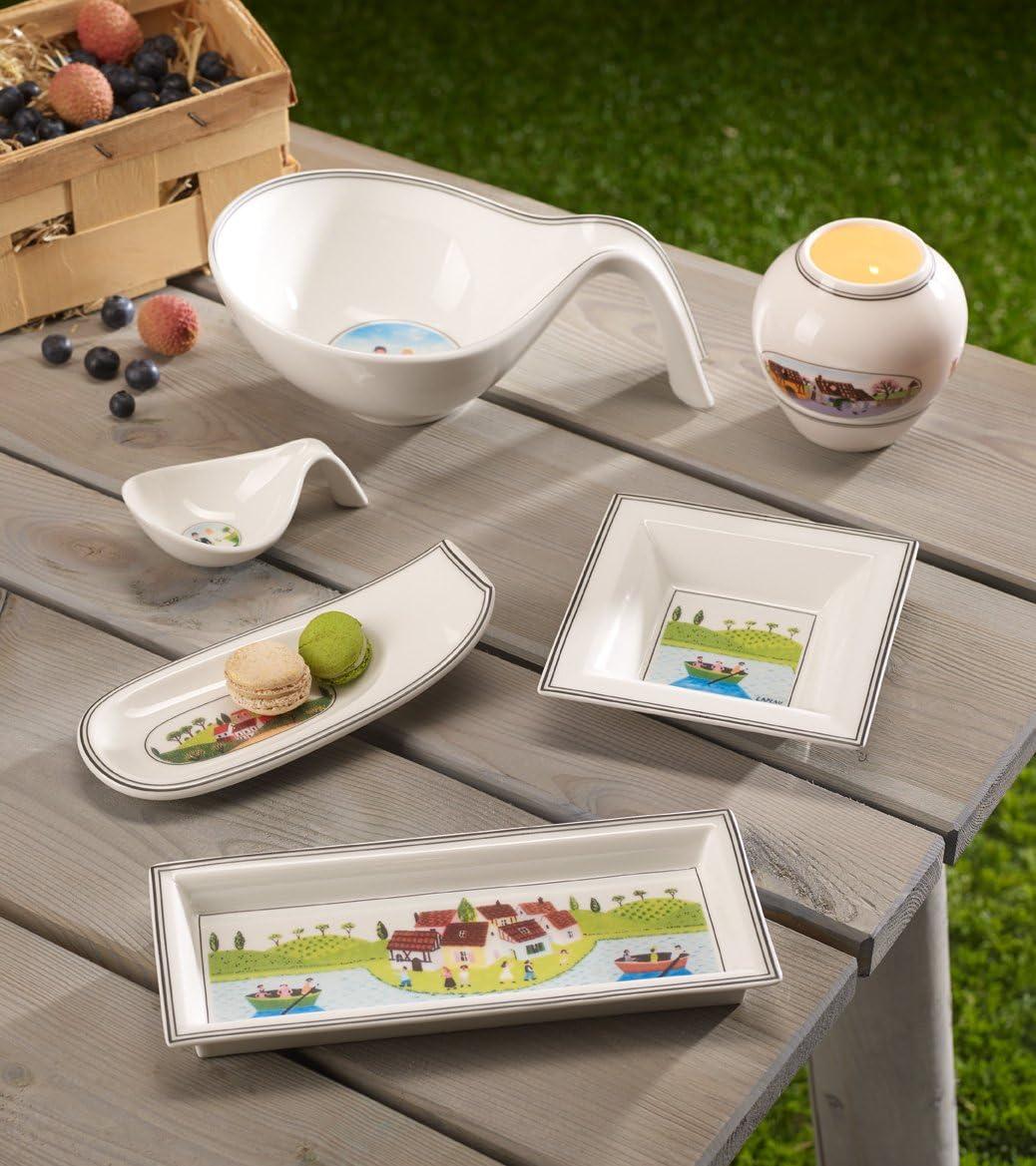 Villeroy und Boch Design Naif Gifts Rechteckige Schale Premium Porzellan Wei/ß//Bunt
