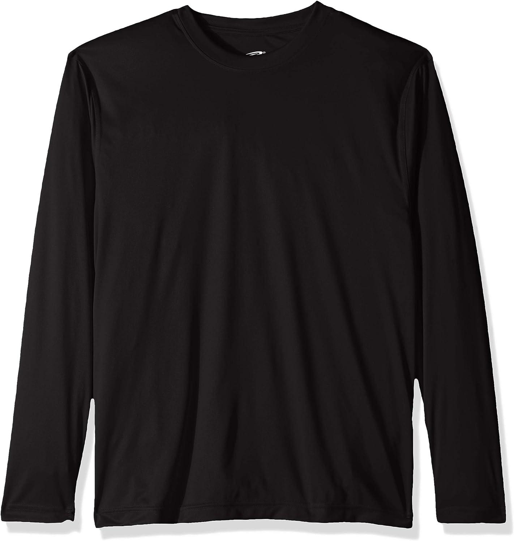 UltraClubs Womens Cool /& Dry Sport Long-Sleeve Perf Interlock Tee