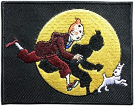 The adventures of Tintin Patch Embroidered Iron on Patch Cartoon Game Patches