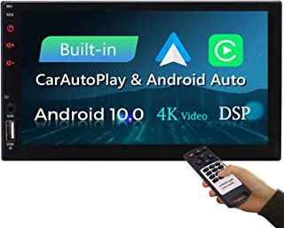 $173 » Android Auto Double Din Car Stereo Carplay Radio Car with Screen Bluetooth GPS Navigation in Dash 7 inch Touchscreen 2 Din FM AM 4K Video Digital Media Player WiFi USB SD SWC Car Play Remote Control