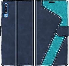 MOBESV Custodia Samsung Galaxy A70, Cover a Libro Samsung Galaxy A70, Custodia in Pelle Samsung Galaxy A70 Magnetica Cover per Samsung Galaxy A70, Elegante Blu