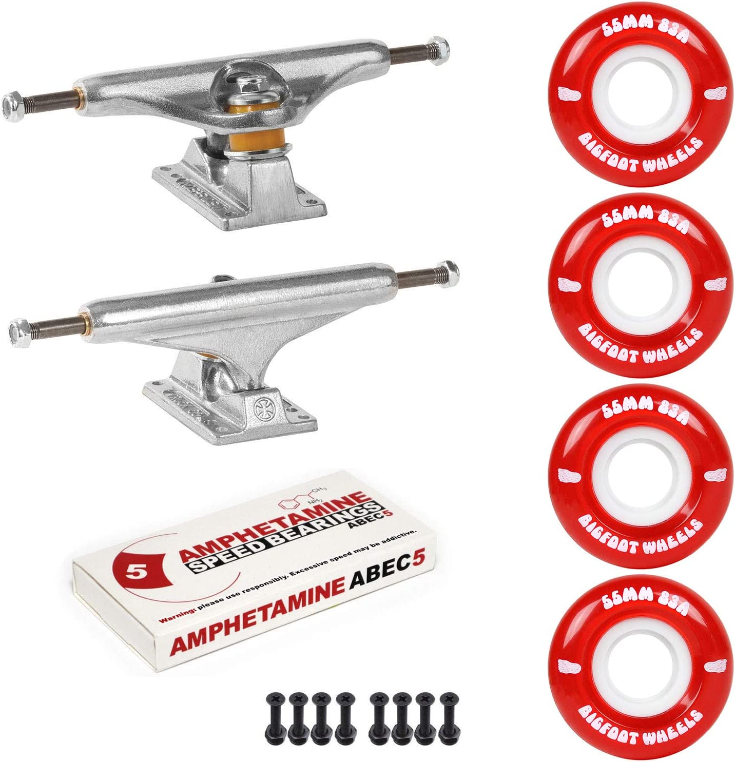 Atlanta Mall Independent Trucks OFFicial mail order Skateboard 83A Cruiser Package Wheels ABEC 5