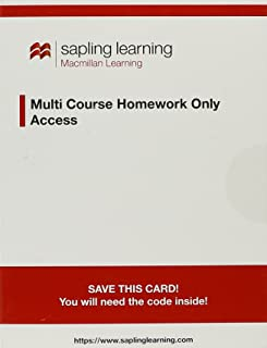 Sapling Learning Homework-Only for Organic Chemistry (Multi-Term Access)