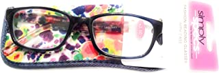 Foster Grant simply specs 2.50 Lady Navy Reading Glasses Readers Eyeglasses