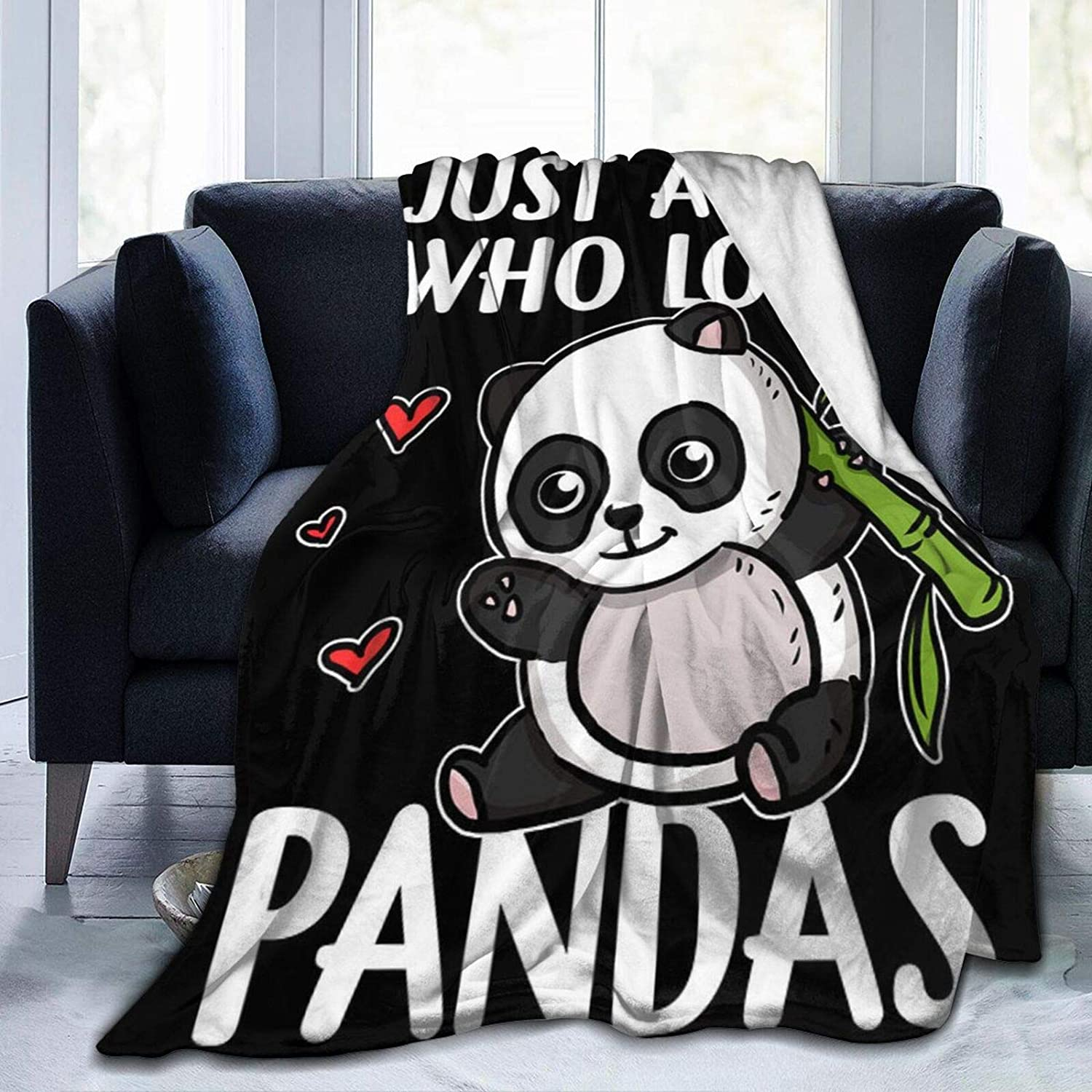 Qutown Just A Girl Who Loves Throw Factory outlet Fleece Pandas Blanket trust Flannel