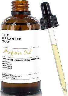 Puro aceite de argán 100% orgánico para pelo piel cuerpo y uñas - prensado en frío en Marruecos- hidratante anti envejec...