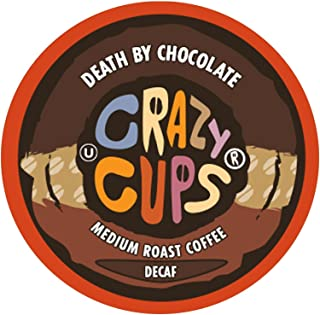 Crazy Cups Decaf Flavored Hot or Iced Coffee, for the Keurig K Cups 2.0 Brewers, Death By Chocolate, 22 Count