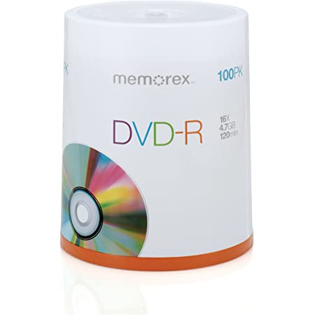 Amazon Com Memorex 16x Dvd R 100 Pack Spindle Memorex Home Audio Theater