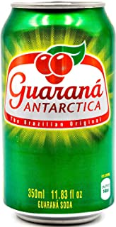 Guaraná Antarctica, Guaraná Flavoured Soft Drink, Made From Amazon Rainforest Fruit, Imported from Brazil, 350ml/11.83 Fl ...
