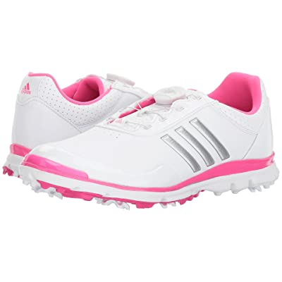 adidas Golf Adistar Lite Boa (Footwear White/Silver Metallic/Shock Pink) Women