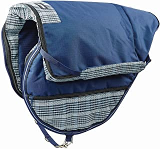 Roma Dura-Mesh All Purpose Saddle Bag - Navy/grey
