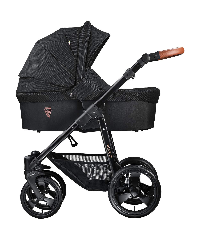 Venicci Gusto - 2 in 1 Stroller Travel System, Black/Black