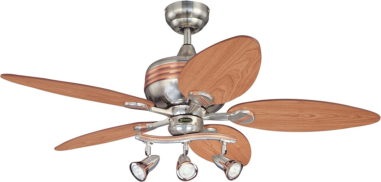 Westinghouse Lighting 7226565 Xavier 44 Inch Ceiling Fan, Brushed Nickel Finish