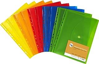 perfect line 10pochettes porte-documents DIN-A4, 20mm hauteur de remplissage, plastique translucides et coloré, perforée...