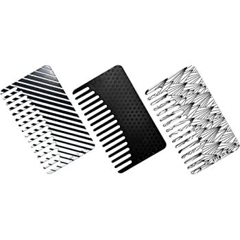 Go-Comb - Wallet Sized Hair & Travel Comb - Wide Tooth - Black Plastic 3-Pack
