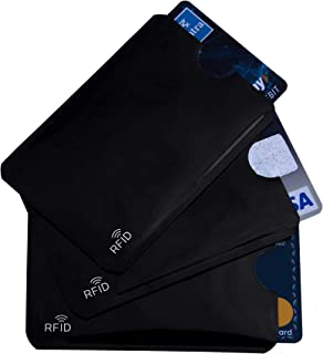 flying CLOUDS 3 Pcs RFID Blocking Credit Card Holder Case Cover Sleeve (Black)
