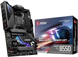 MSI MPG B550 Gaming Carbon WiFi Gaming Motherboard (AMD AM4, DDR4, PCIe 4.0, SATA 6Gb/s, Dual M.2, USB 3.2 Gen 2, HDMI/DP,...