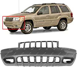 MBI AUTO - Primered, Front Bumper Cover for 1999 2000 Jeep Grand Cherokee 99 00, CH1000266