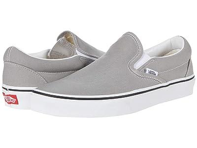 Vans Classic Slip-On (Drizzle/True White) Skate Shoes