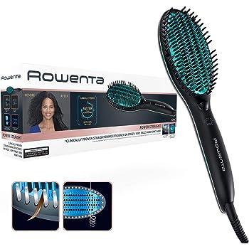 Rowenta CF5820F0 Power Straight - Cepillo especial para cabello muy rizado, con generador de iones y temperatura regulable hasta 200 grados Celsius: Amazon.es: Salud y cuidado personal