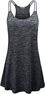 Women's Scoop Neck Spaghetti Strap Casual Tank Dress with Pockets