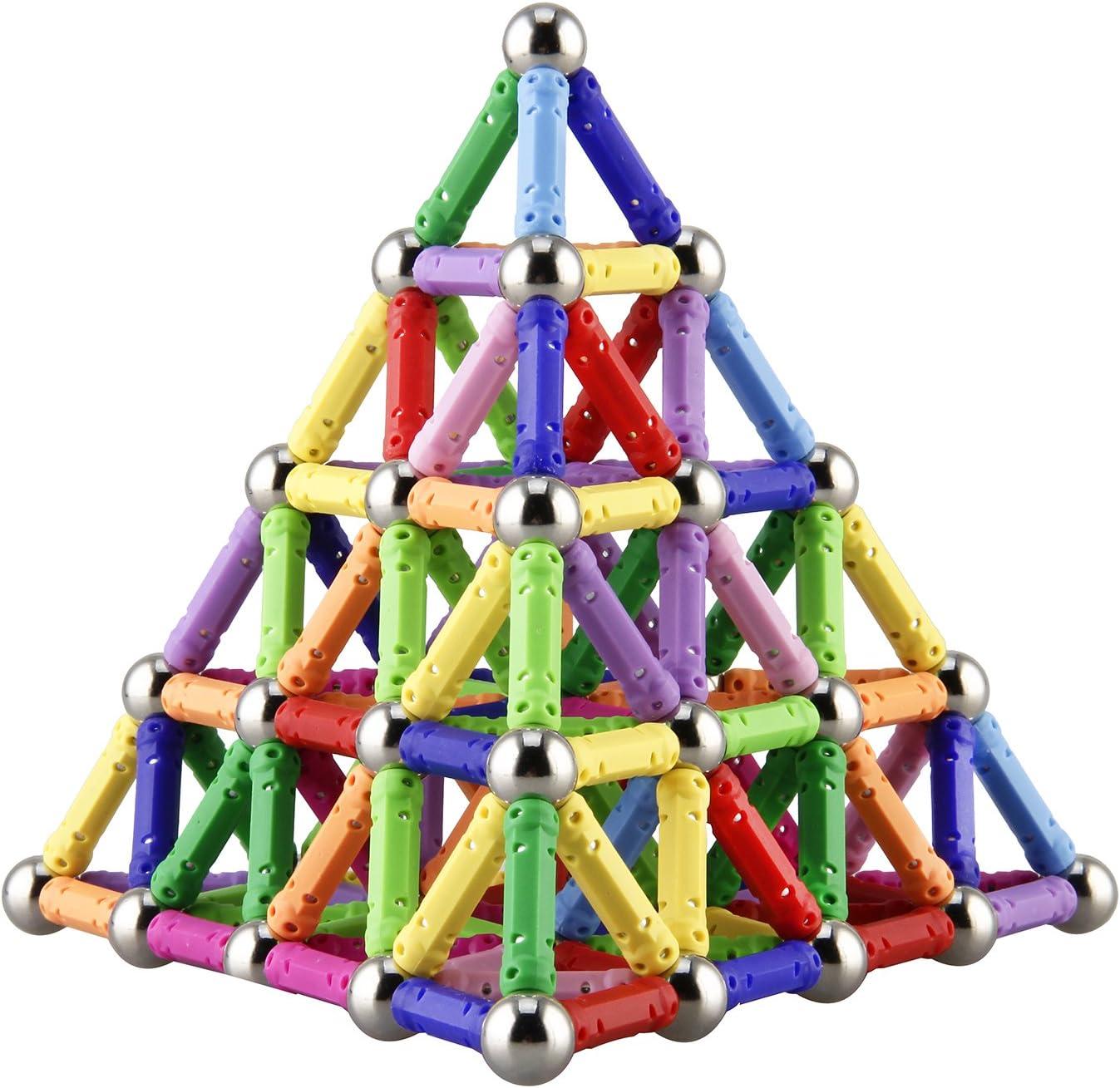 ELONGDI 130 Pieces - Magnetic Time sale Se OFFicial store Sticks Building Blocks