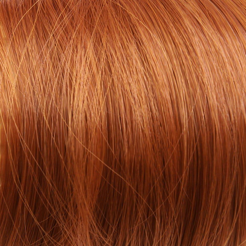 Prettyland - DQ138 pelo largo one-Piece Extensión de Cabello, media Peluca ondulada con Clip in - Rojo de cobre