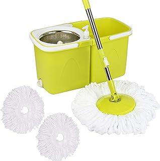 Neez Balais laveurs et Seaux, Clean balai à frange et seau à pédale - set complet, Produits et accessoires de nettoyage, S...