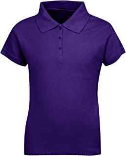 Short Sleeves Girls Polo Shirts – ScotchGuard Treated, Stain Resistant