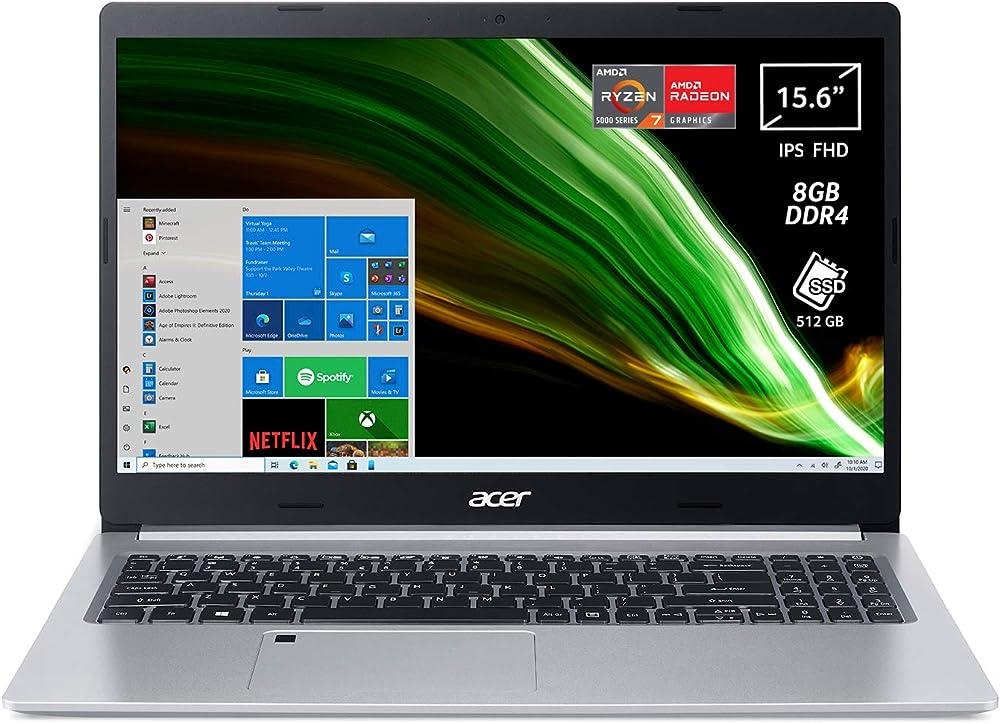 Acer aspire 5 pc portatile notebook amd ryzen ram 8 gb ddr4 512 gb ssd amd radeon usb type-c NX.A80ET.005