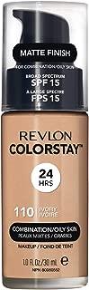 Revlon Colorstay Liquid Foundation Makeup with Pump 110 Ivory Combination/Oily Skin,1 Fl Oz