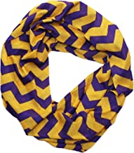 Purple & Gold Chevron Infinity Scarf